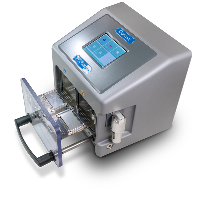 Sample preparation for electron microscopy - GloQube Plus Glow discharge system