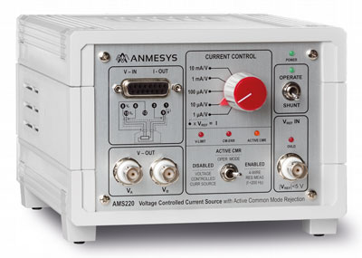 AMS220: current source   for measurements of very small resistances