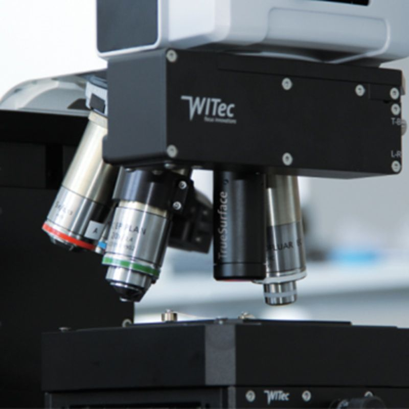 Confocal Raman microscopes - Large area profilometry for topographic Raman imaging