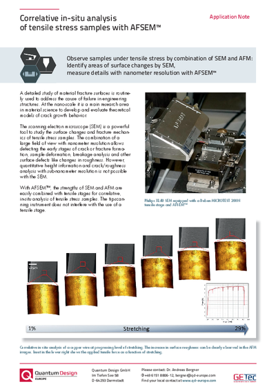 Analysis of tensile stress samples - Application Note
