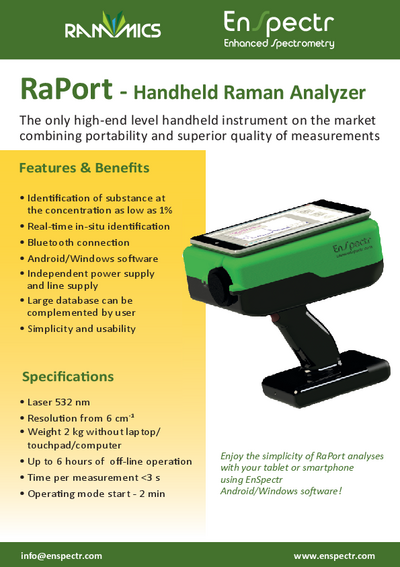 RaPort raman handheld analyzer brochure