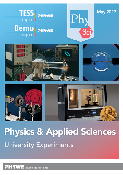 Physics & Applied Sciences - Laboratory experiments catalogue