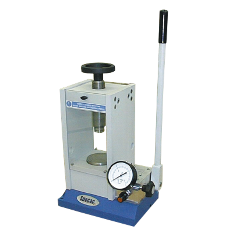 FTIR sample preparation: presses & dies - Manual hydraulic press