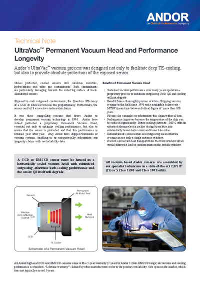 UltraVac permanent vacuum head and performance longevity