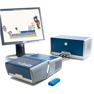 Four-channel quartz crystal microbalance system
