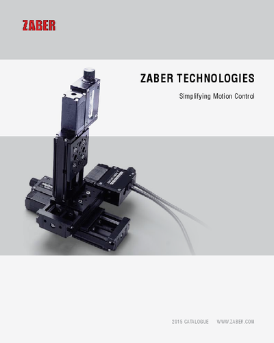 Motion control systems from Zaber catalogue