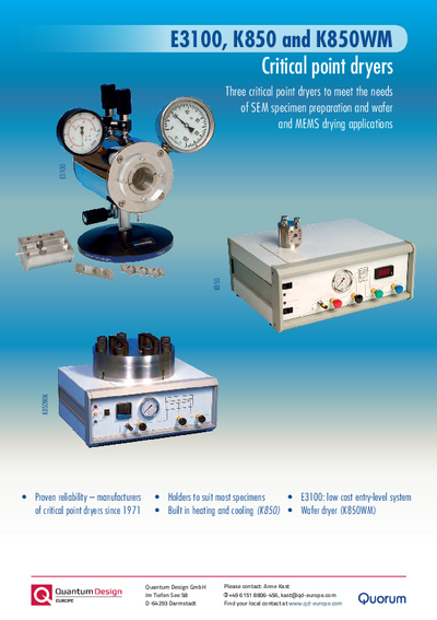 Critical point dryer brochure