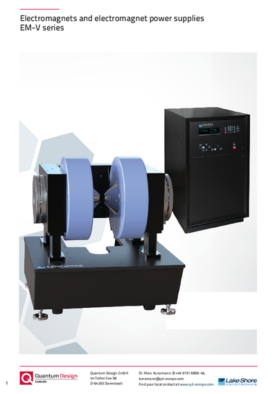Electromagnets and electromagnet power supplies EM-V series