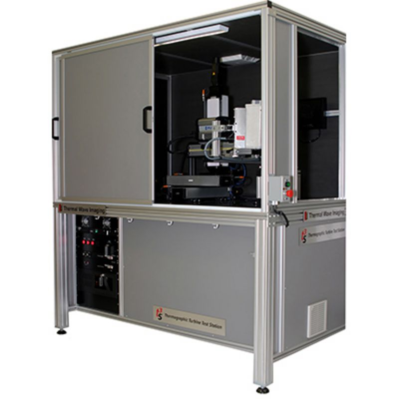 Thermographic NDT and NDE - Thermographic turbine test station