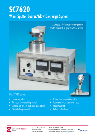 Sputter coater SC7620 Mini brochure