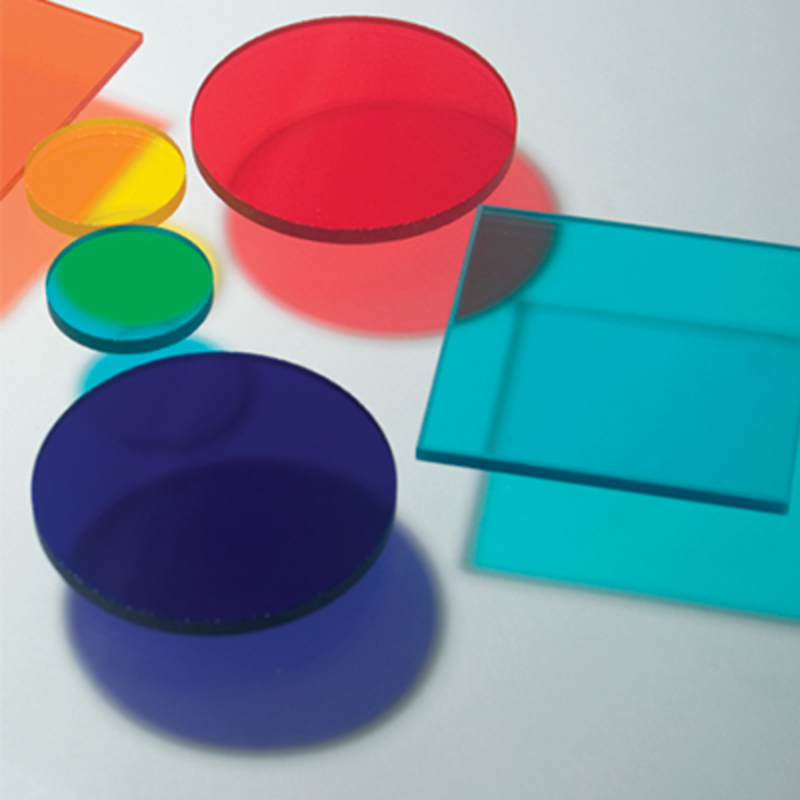 Colored glass filters & sets - Colored glass filters