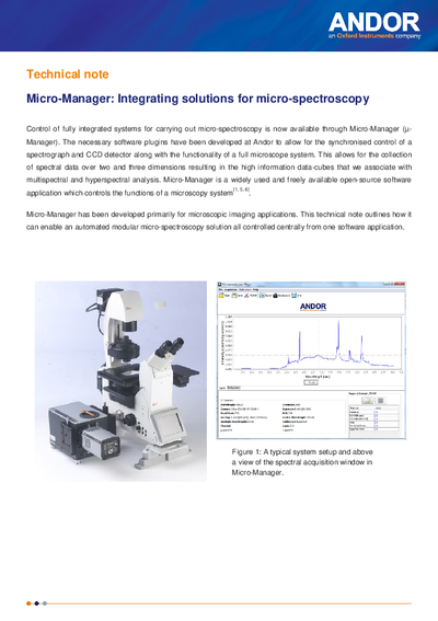 Micro-manager: Integrating solutions for micro-spectroscopy