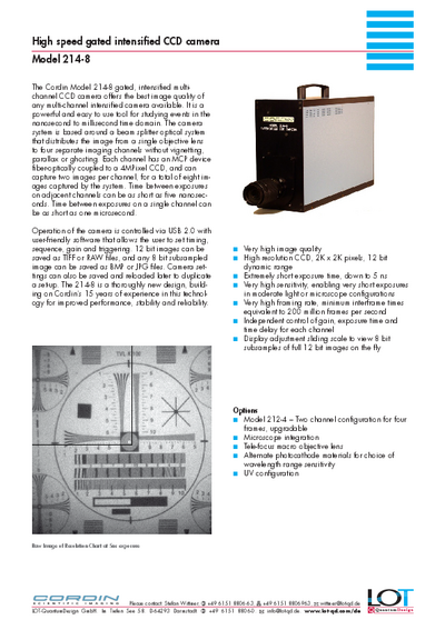 214 8 HS gated intensified CCD camera brochure